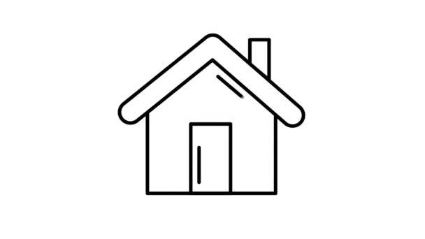Hauszeilen-Symbol auf dem Alpha-Kanal