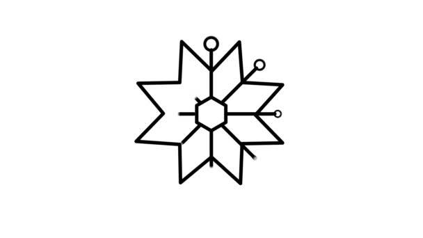 Hópehely vonal ikon az Alfa-csatornán