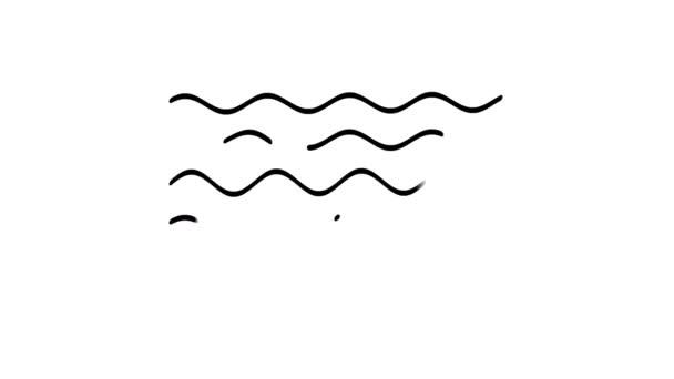 Wellenlinien-Symbol auf dem Alpha-Kanal