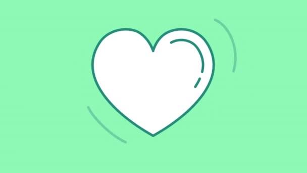 Herzlinie-Symbol auf dem Alpha-Kanal
