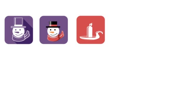 Animované vánoční a novoroční ikony