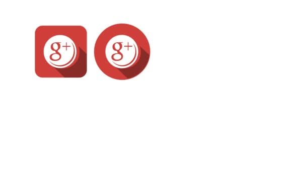 Flat Style Animated Social Icons. Google and Instagram