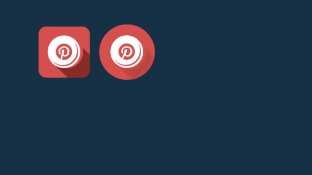 Flat Style Animated Social Icons. Pinterest and Tumblr
