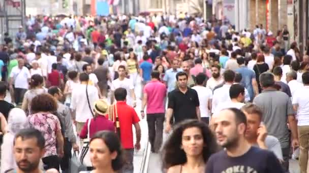 People walk In Istiklal Street