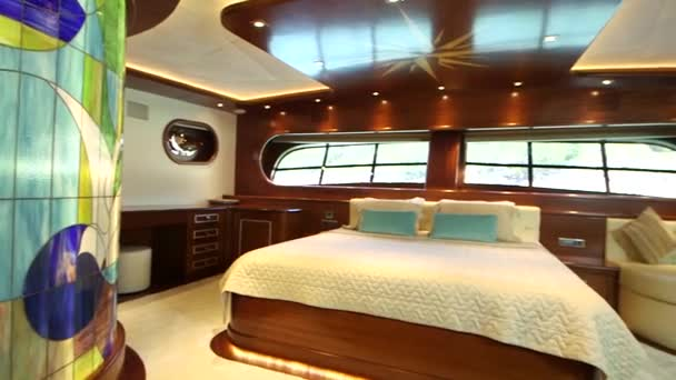 Interior of bedroom in Yacht