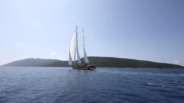 Yacht Sailing in sea