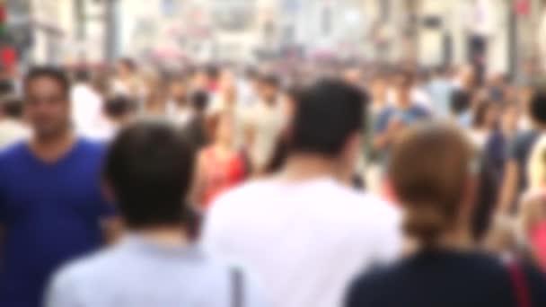 People walk In Istiklal Street