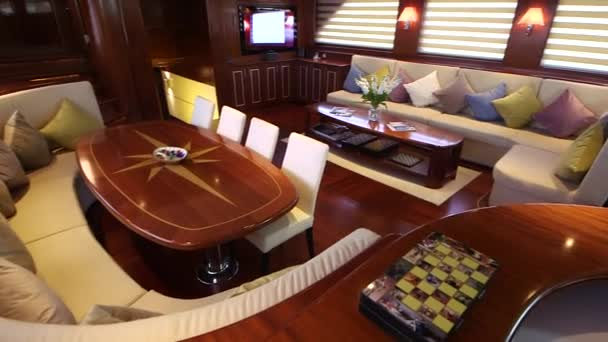 Interior of room in Yacht