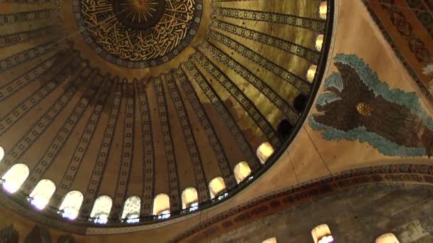 Interiér Hagia Sophia v Istanbulu