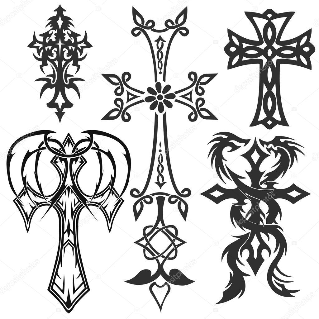 Imagenes Cruces Tribales Cruces Tatuajes Tribales Vector De