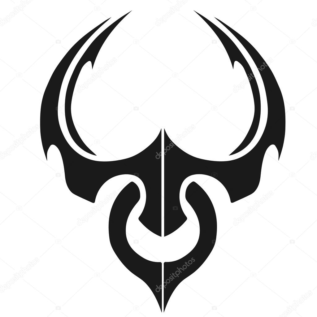 Minimalist Bull Tattoo Illustration Stock Photo C Klowreed 110156890