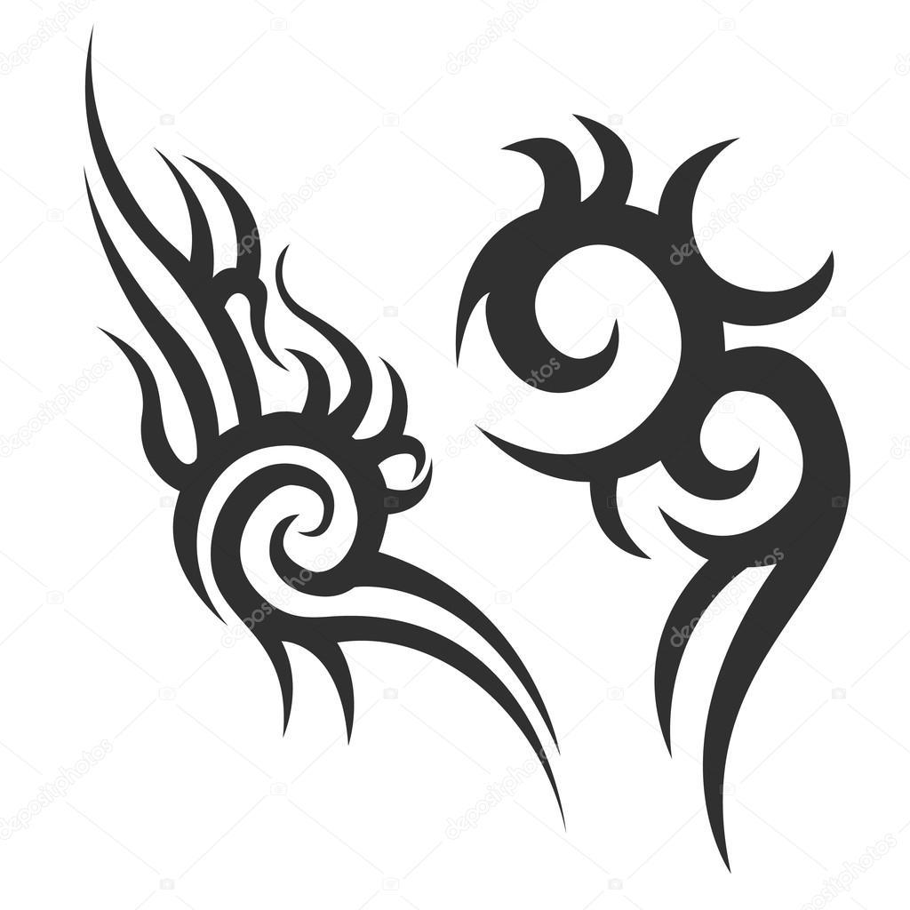 Tribal Tattoo Mannen Tattoo Womens Tattoo Stockvector