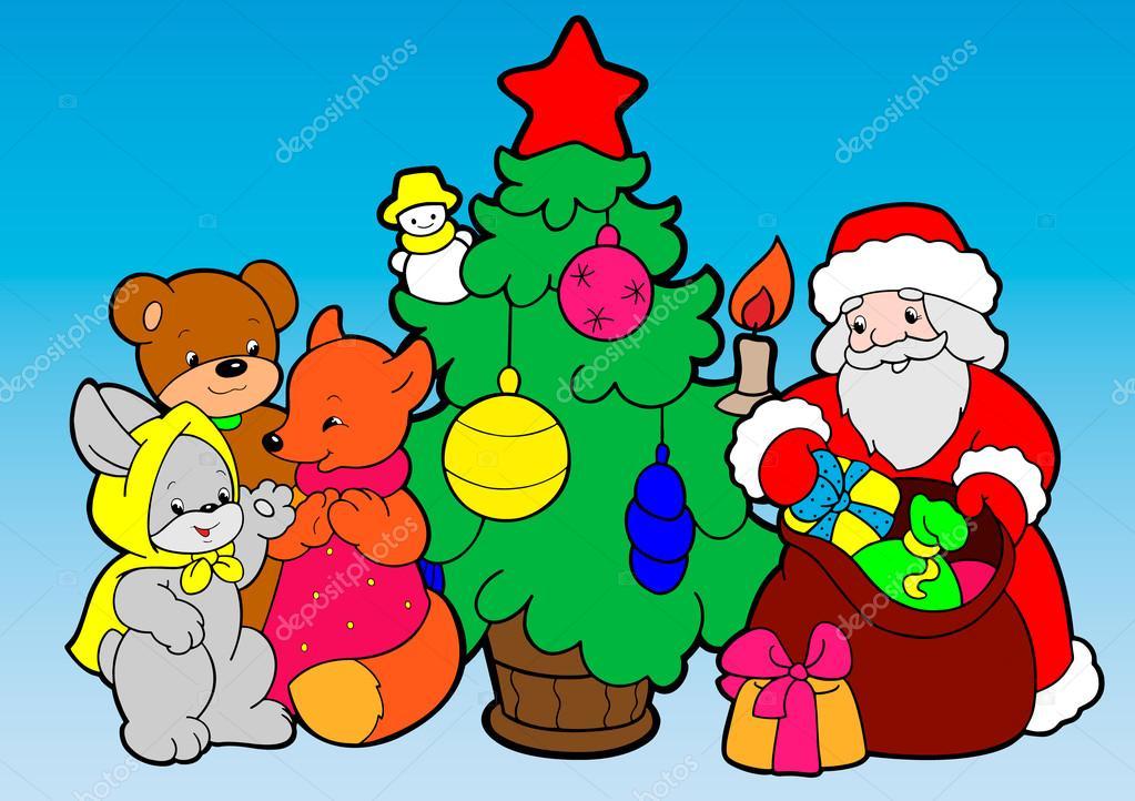 Helada de abuelo. Tarjeta de felicitación de Navidad — Vector de ...