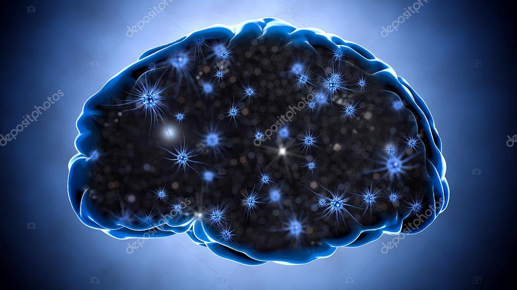 Impulsos del cerebro. Sistema de neuronas. Anatomía humana ...