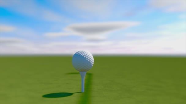 Zpomalený pohyb Golf úder. Golfové míče animace