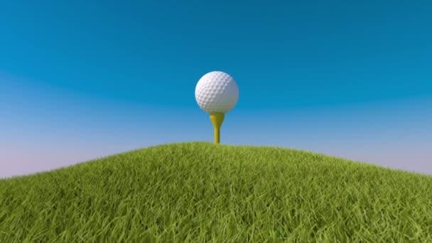 Golf. Animovaná ukázka golfový míček