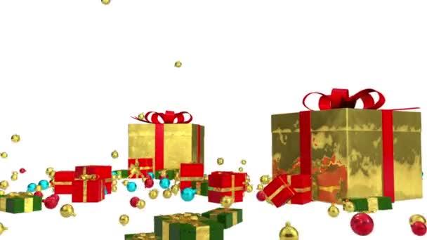 Animált díszdobozok. Új év. Karácsonyi. Eső ajándékokat. Alfa-Matt közé