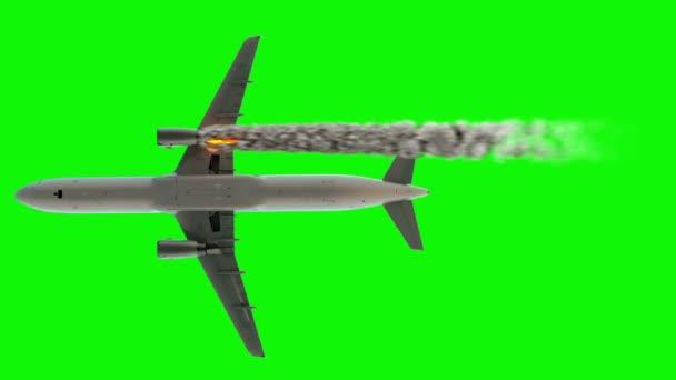 Koncepce letecké nehodě. motor na ohni. Letecká havárie. Alfa kanál.