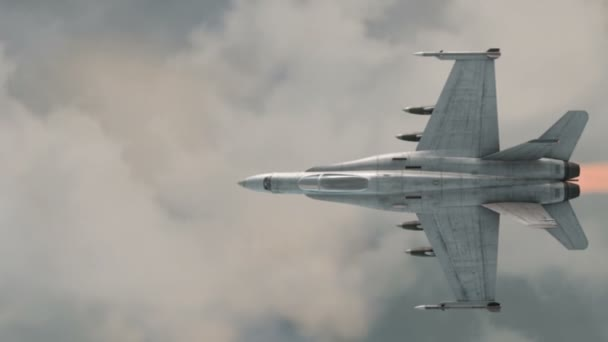 American military fighter plane Jet plane  Fly in clouds  Wonderfull  sunset  Realistic CG 3d animation