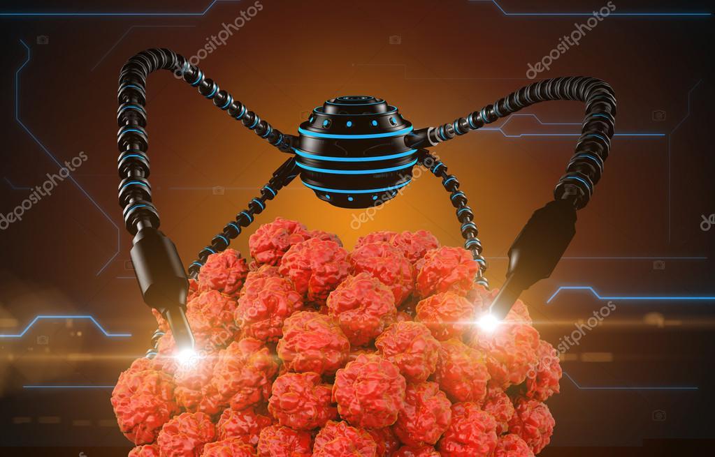 Nanorobot y virus, bacteria, microbio. Futuro anatómico del concepto ...