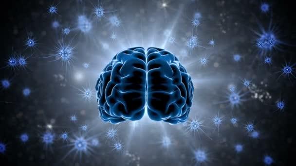 Impulsy mozku. Neuron systém. Lidské anatomie. Mozkové činnosti. přenos impulsů a generování informace