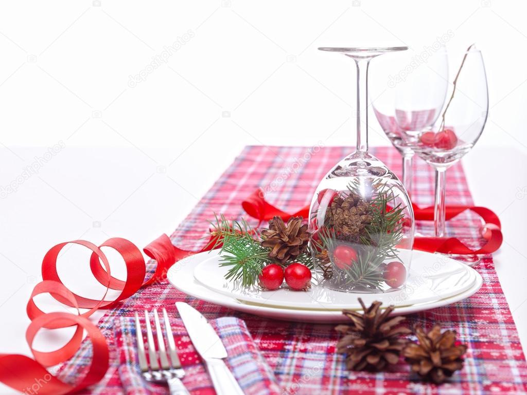 Decorazioni Da Tavola Per Natale : Vigilia di natale decorazione della tavola u foto stock