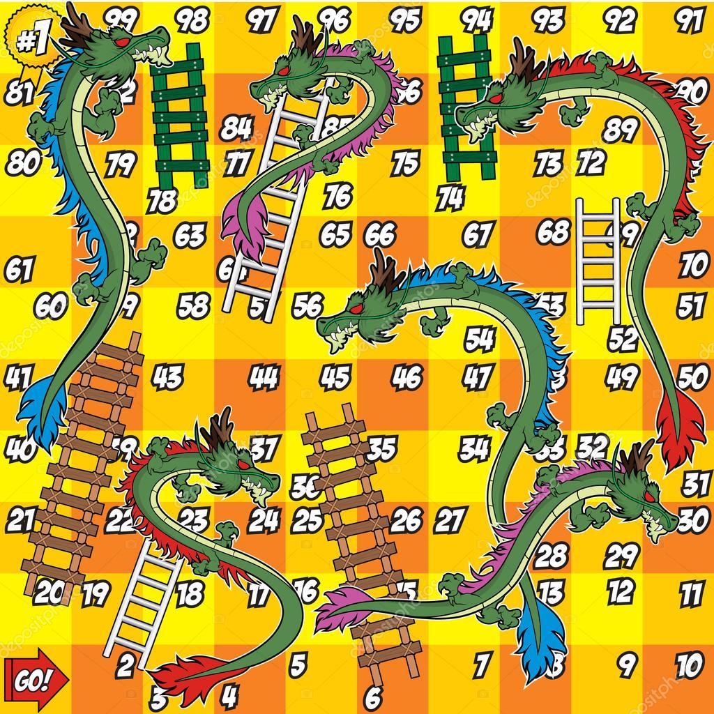 Drachen und leiter spiel gelbe tafel stockvektor for Gelbe tafel