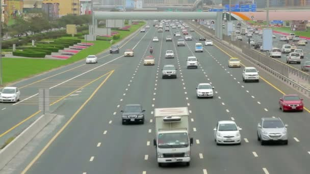 DUBAI, U.A.E. - APR, 2013: cars move on the highway