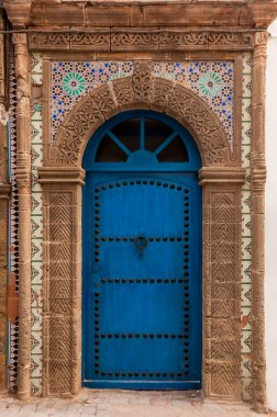 A traditional carved doorway