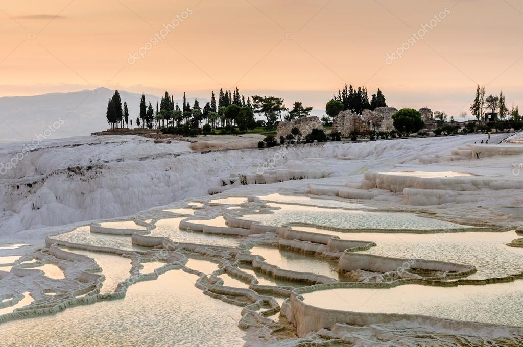 Travertine pools and terraces