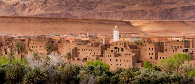 Moroccan village in mid Atlas mountains