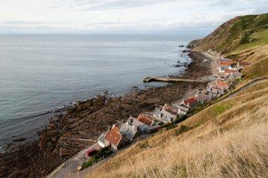 Crovie village on seashore