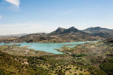 View of Zahara - El Gastor Reservoir