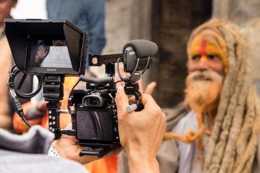 A Hindu sadhu holy man