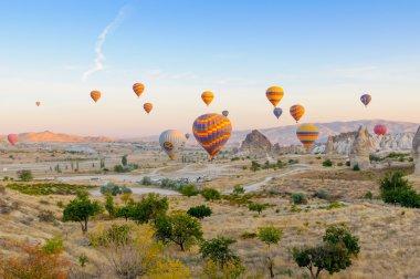 Hot air balloons at early morning
