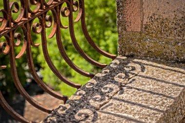 Metal decorative balcony fence