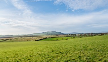 Picturesque view of Perthshire farmland