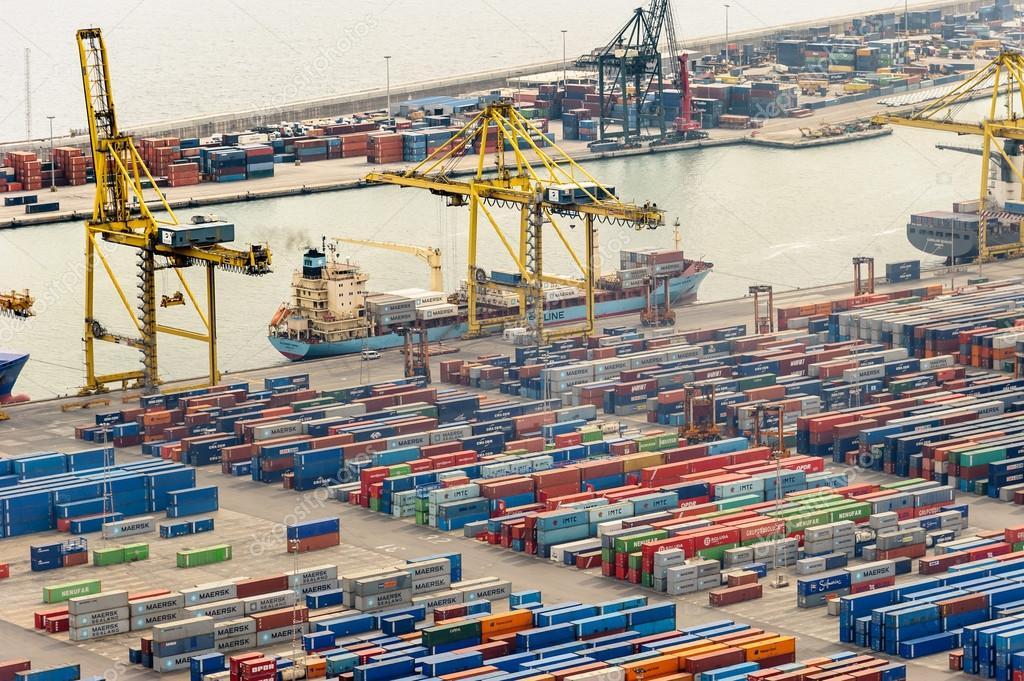 Commercial port of Barcelona