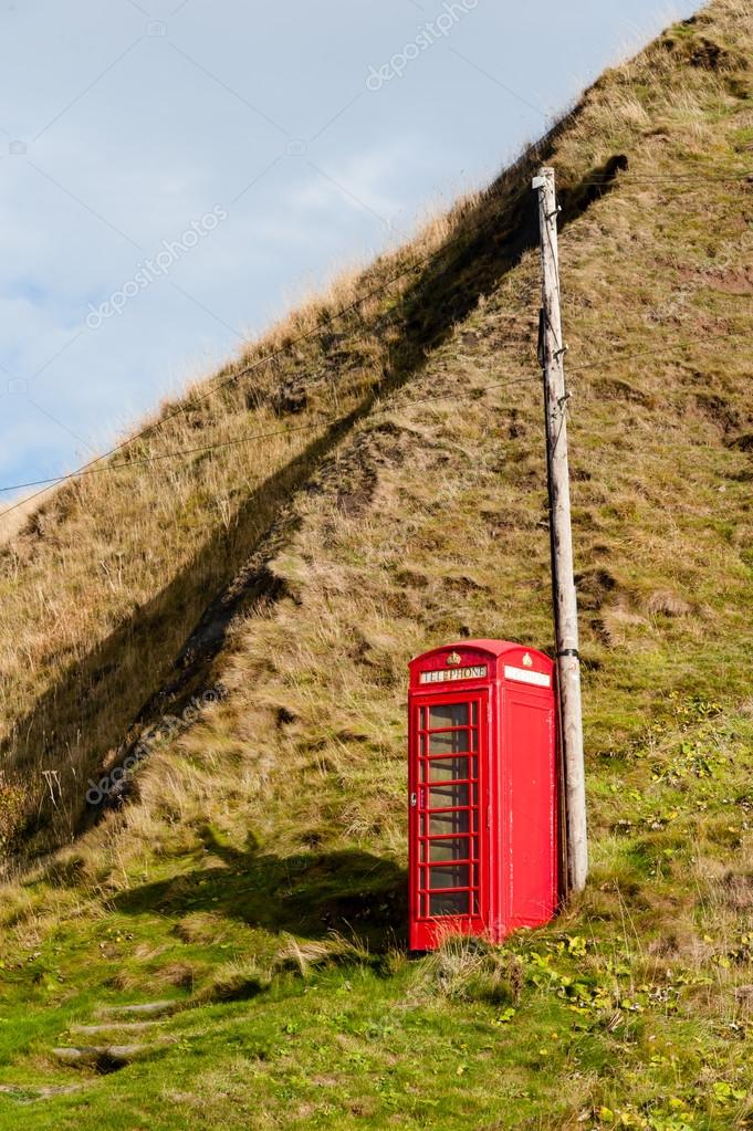 Telephone box in rural location