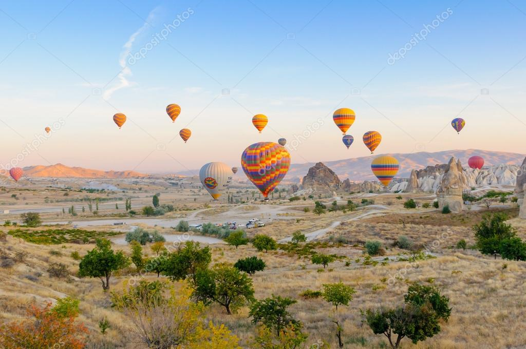 Hot air balloons at early morning