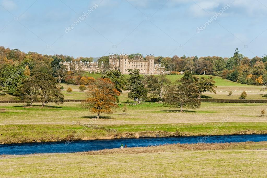 Floors Castle and river Tweed
