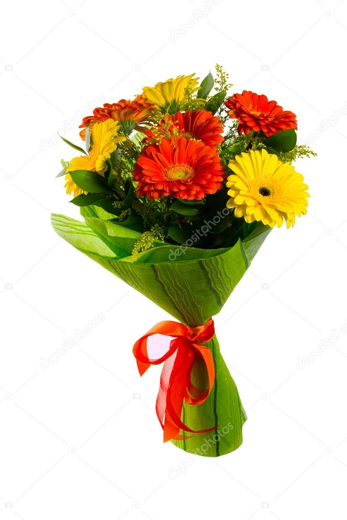Red and yellow flower bouquet stock photo tasipas 100843570 red and yellow flower bouquet stock photo mightylinksfo