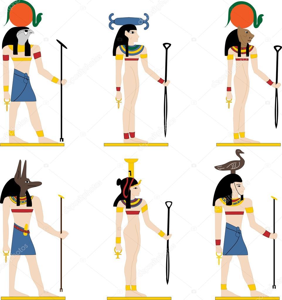 Dioses De Egipto Archivo Imágenes Vectoriales Natalivector 87275846
