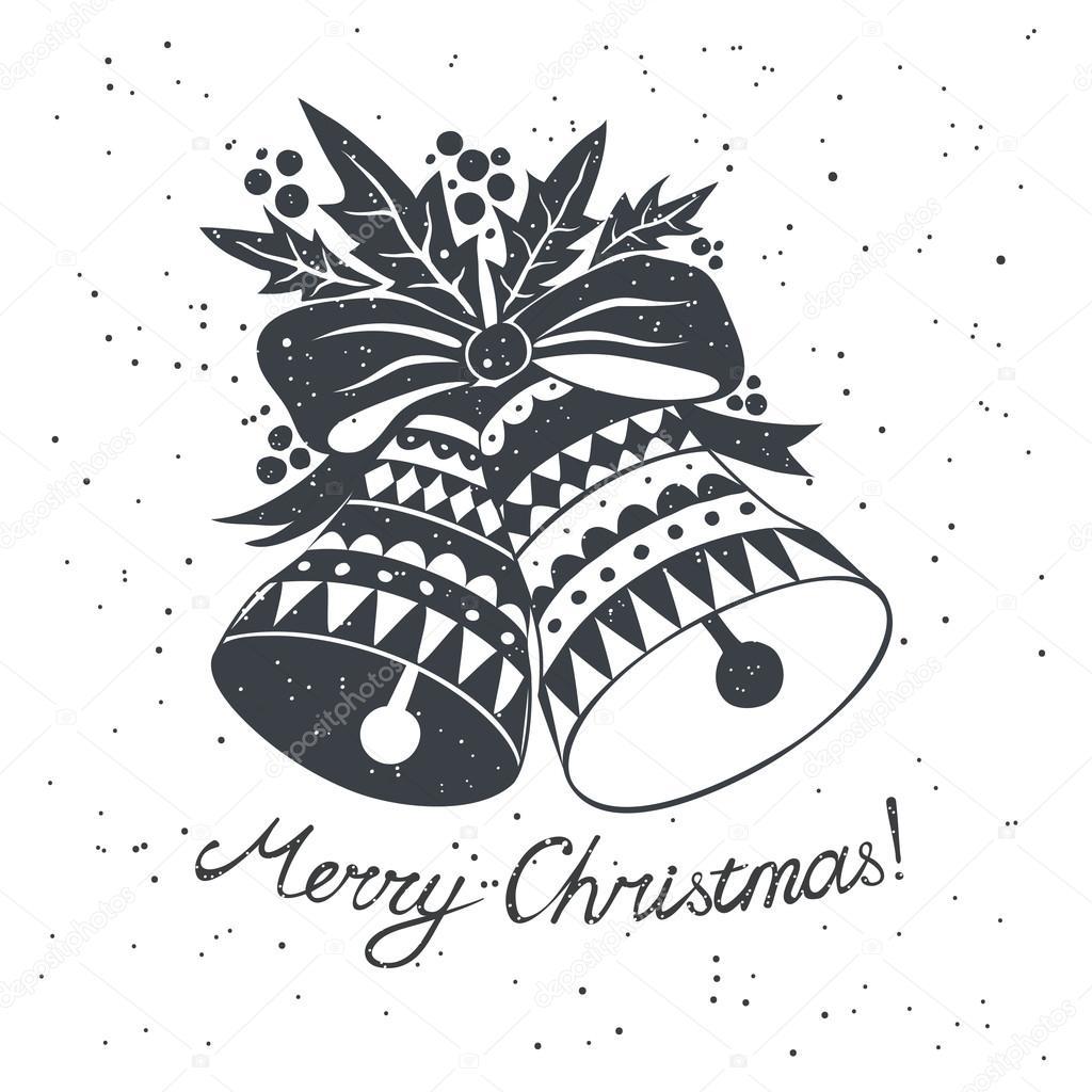 Weihnachten-Skizze mit Glocken — Stockvektor © Mandryna #90775646