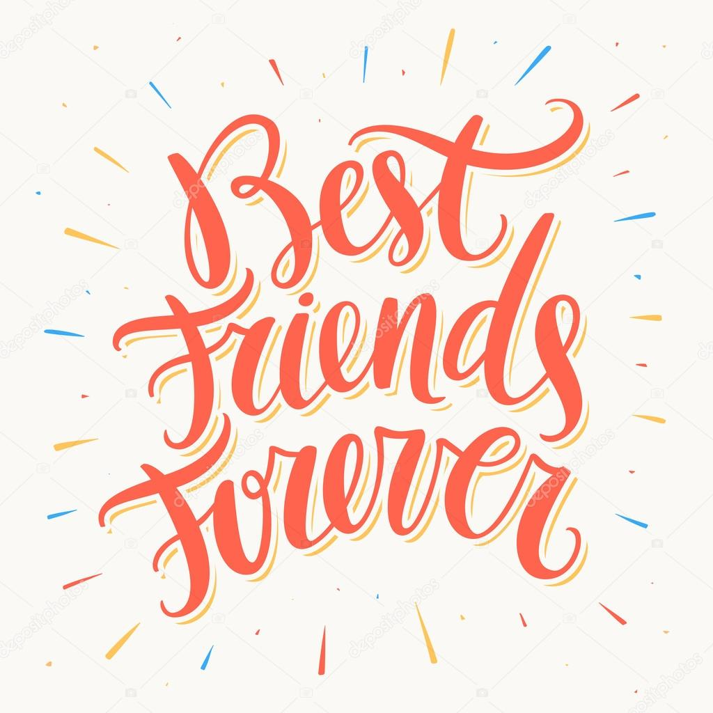 best friends forever — stock vector © alexgorka 121974600