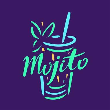 Mojito cocktail logo