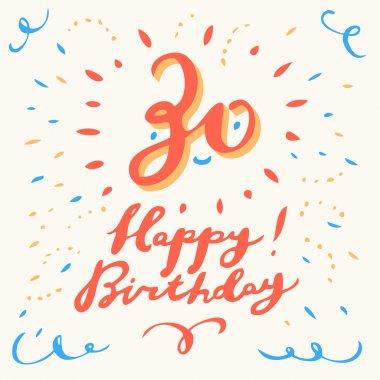 30th Happy Birthday card.