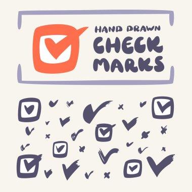 Check mark icon set.