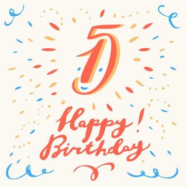 15th Happy Birthday card.