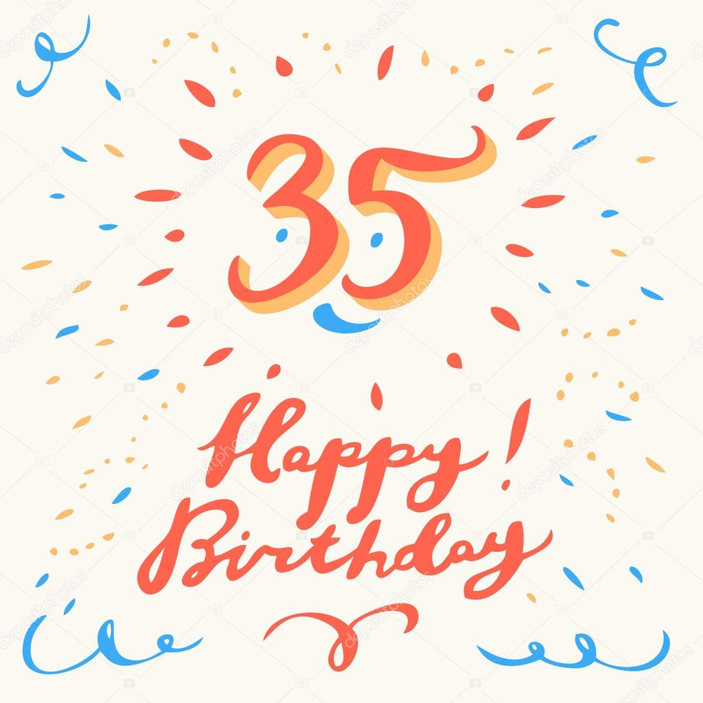 35e Verjaardag Kaart Stockvector C Alexgorka 95360934